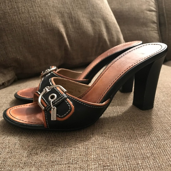 10733c92646c Coach Shoes - Coach Italian Leather  Daryn  Open Toe Heels